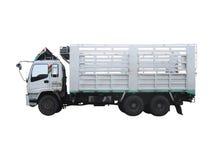 Caminhão isolado no fundo branco Fotografia de Stock
