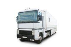 Caminhão moderno branco grande fotos de stock royalty free