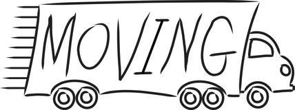 Caminhão movente Imagem de Stock Royalty Free