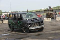 Caminhão na ação Fotografia de Stock