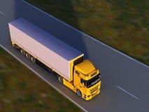 Caminhão na estrada foto de stock royalty free