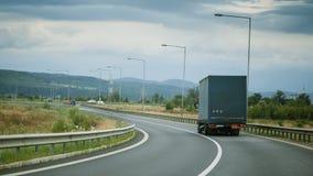Caminhão na estrada Foto de Stock