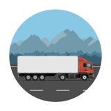 Caminhão na estrada da montanha ilustração royalty free