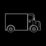 Caminhão pequeno para transportar cargas pesadas médias Foto de Stock Royalty Free