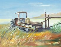 Caminhão pintado da exploração agrícola Imagens de Stock