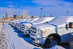 Caminhão por vender ainda fotografia de stock royalty free