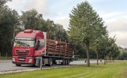 Caminhão que conduz em uma estrada Imagem de Stock Royalty Free