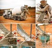 caminhão que descarrega o cimento Fotos de Stock Royalty Free