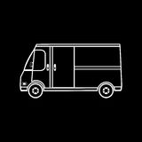 Caminhão que troca no café do fast food do restaurante das rodas Imagens de Stock