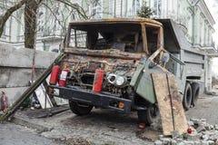 Caminhão queimado Fotos de Stock Royalty Free