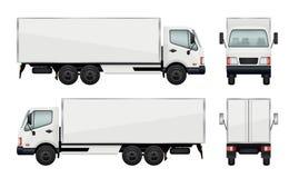 Caminhão realístico Transporte das ilustrações do vetor da carga ilustração royalty free