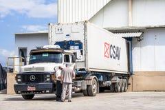Caminhão refrigerado imagens de stock