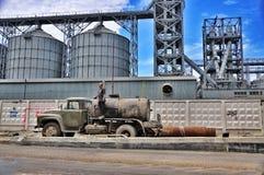 Caminhão soviético velho fotos de stock royalty free