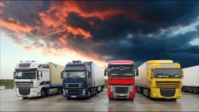 Caminhão - transporte do frete, lapso de tempo filme