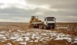 Caminhão, trator de estrada Foto de Stock