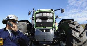 Caminhão, trator e excitador Fotografia de Stock