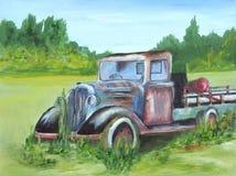 Caminhão velho Fotografia de Stock