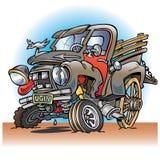 Caminhão velho dividido feio da exploração agrícola Foto de Stock Royalty Free