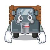 Caminhão velho receoso na forma da mascote ilustração do vetor