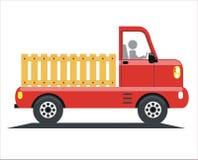 Caminhão vermelho ilustração royalty free