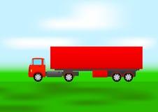 Caminhão vermelho ilustração stock