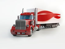 Caminhão vermelho Foto de Stock Royalty Free