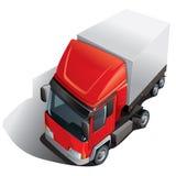 Caminhão vermelho do carregamento Fotos de Stock
