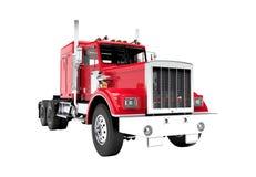 Caminhão vermelho isolado em um fundo branco Fotografia de Stock
