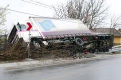 Caminhão virado Imagem de Stock