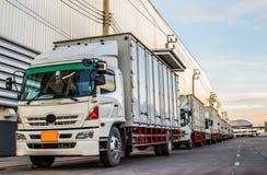 Caminhões brancos Foto de Stock