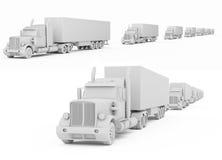 Caminhões brancos Imagens de Stock Royalty Free