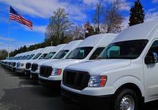 Caminhões comerciais da carga foto de stock