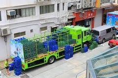 Caminhões da água estacionados Fotografia de Stock Royalty Free