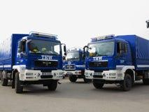 Caminhões da brigada de THW Fotografia de Stock Royalty Free