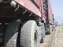 Caminhões da carga fotografia de stock royalty free