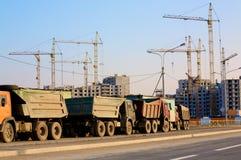 Caminhões da construção Imagens de Stock Royalty Free
