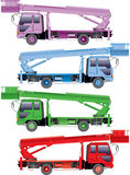 Caminhões da cor Imagens de Stock Royalty Free