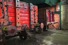 Caminhões da estrada de ferro do vintage Imagens de Stock Royalty Free
