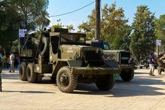 Caminhões da segunda guerra mundial Fotografia de Stock