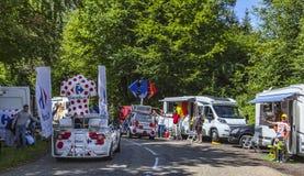 Caminhões de Carrefour Fotos de Stock Royalty Free