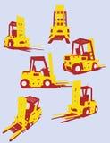 Caminhões de forquilha do vetor Imagem de Stock Royalty Free
