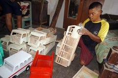 Caminhões de madeira Fotografia de Stock