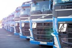 Caminhões de Volvo Fotos de Stock Royalty Free
