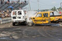 Caminhões destruídos Fotografia de Stock Royalty Free