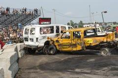 Caminhões destruídos Fotos de Stock Royalty Free