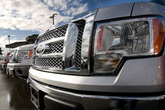 Caminhões dianteiros da grade Imagens de Stock Royalty Free