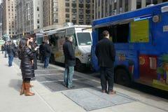 Caminhões do alimento Fotografia de Stock