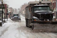 Caminhões do arado de neve Foto de Stock Royalty Free