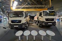 Caminhões do HOMEM na exposição especializada 13o International Imagens de Stock