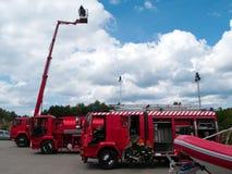 Caminhões do incêndio e do salvamento Imagens de Stock